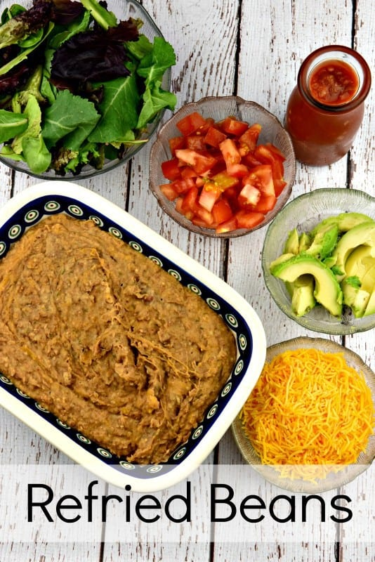 Homemade Refried Beans verticle