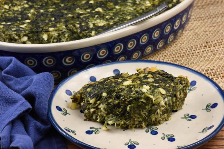 Crust-less Spinach Quiche