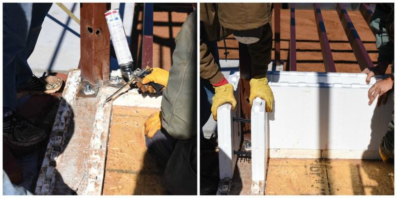 ICF glueing and positioning