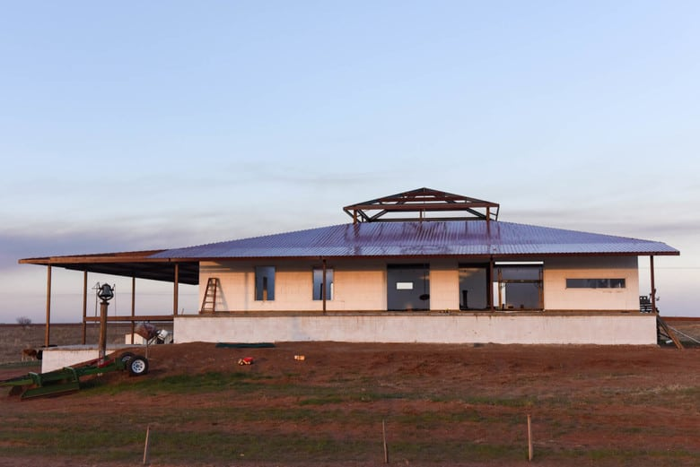 Metal Roof on ICF House