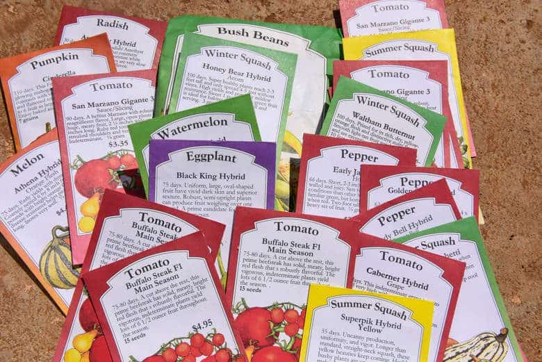 Starting Garden Seeds in Greenhouse - Seed Packets