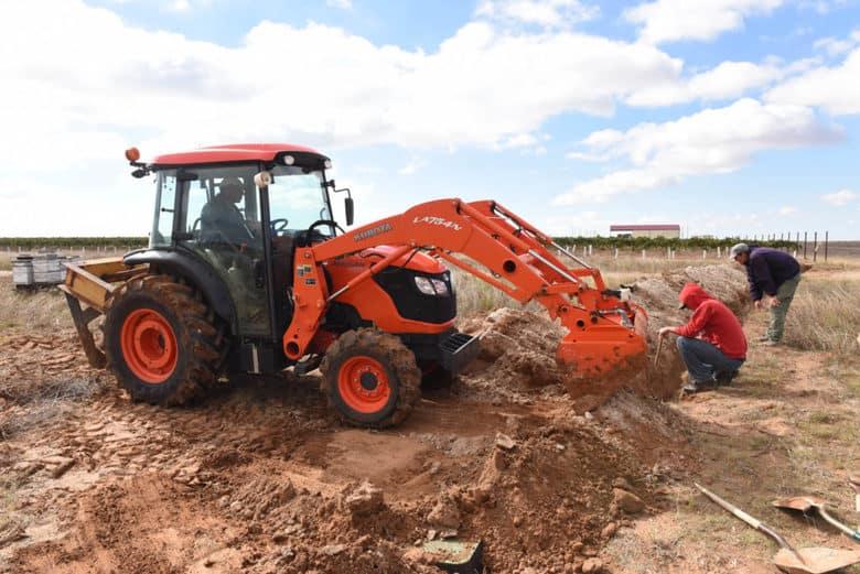 Preparing for Vineyard Expansion 2017 - drip irrigation