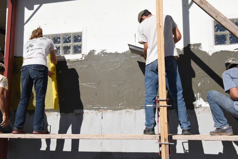 Applying EIFS on ICF Blocks
