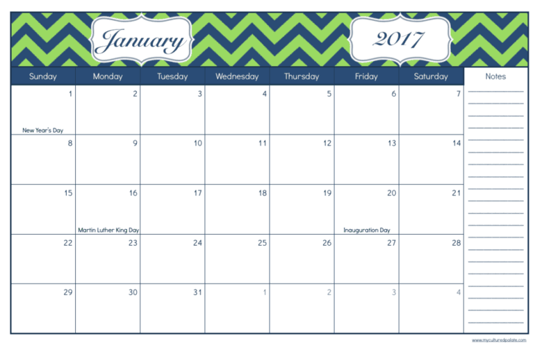 Daily Life Planner - free printables - daily and monthly pages-january-spread