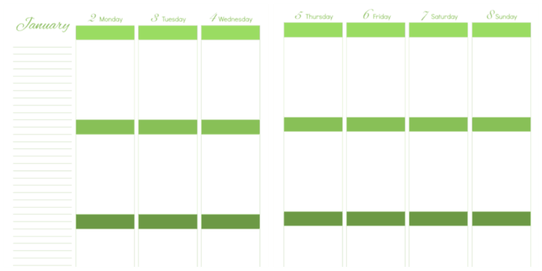 Daily Life Planner - free printables daily-and-monthly-pages-side-by-side