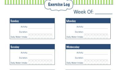 Daily Life Planner – Exercise Log