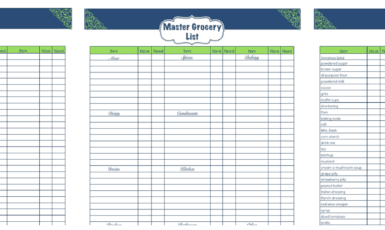 Daily Life Planner – Grocery List