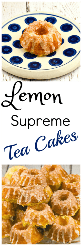 Lemon Supreme Tea Cakes