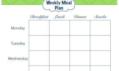 Daily Life Planner – Meal Planning