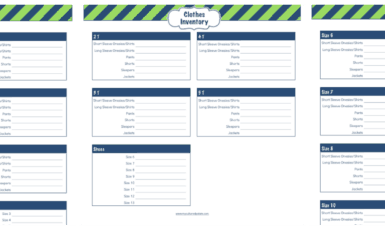 Daily Life Planner – Clothes Inventory List