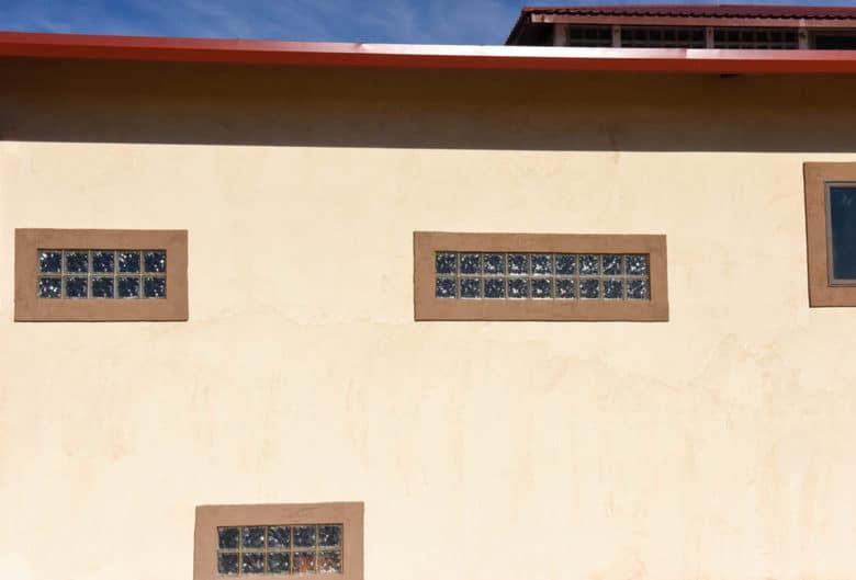 EIFS window trim - color coat complete