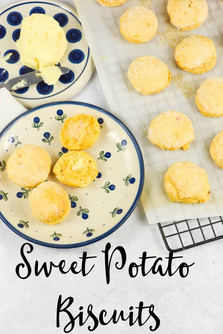 Sweet Potato Biscuits Recipe. Delicious, easy and full of flavor, these sweet potato biscuits are a great treat slathered with butter and honey. www.myculturedpalate.com #biscuits #sweetpotato #healthyrecipes #easyrecipes