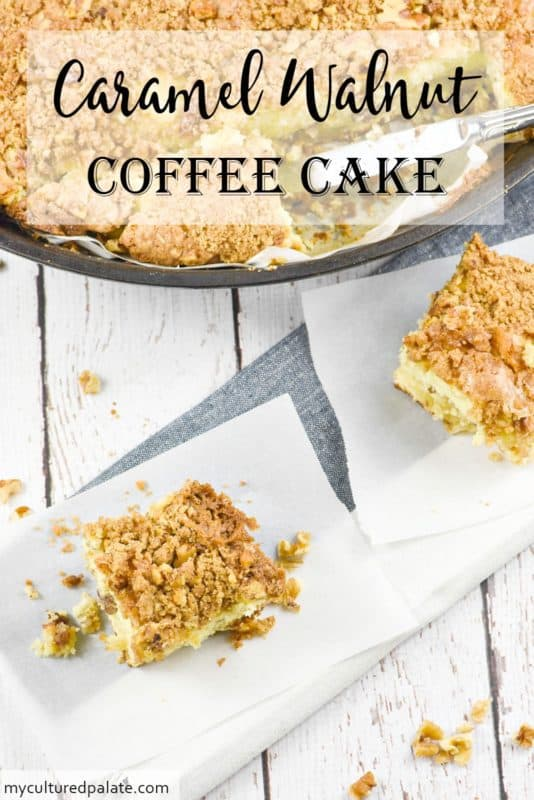 Caramel Walnut Coffee Cake