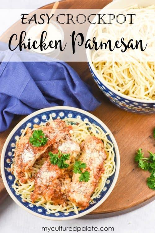 Easy Crock Pot Chicken Parmesan