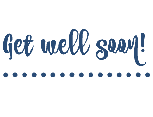 Free Printable Get Well Cards - Blue