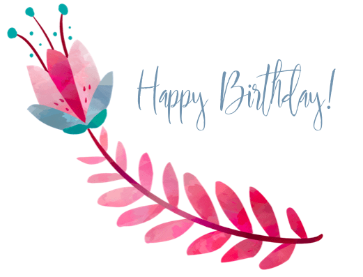 Free Printable Happy Birthday Cards - FLower