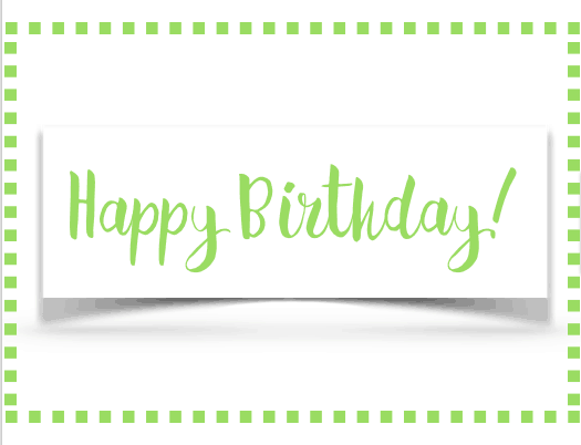 Free Printable Happy Birthday Cards - Green Squares