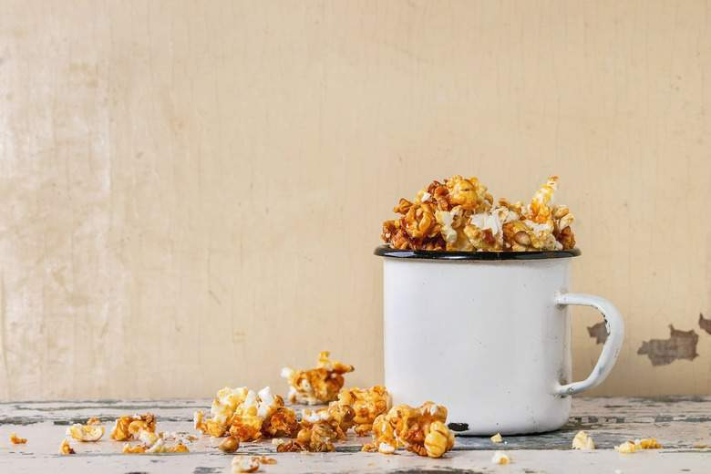 A photo of Homemade Caramel Corn in a mug