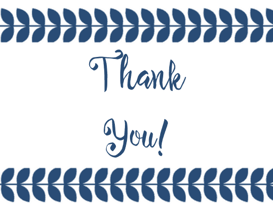 free Printable Thank You Card Blue
