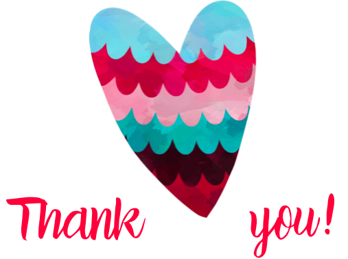 Free Printable Thank You Cards heart