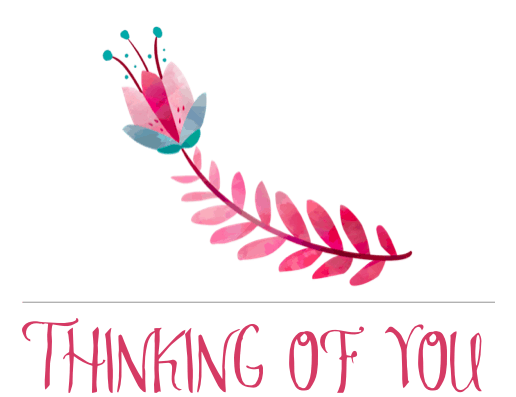 Free Printable Thinking of You Card - Flower