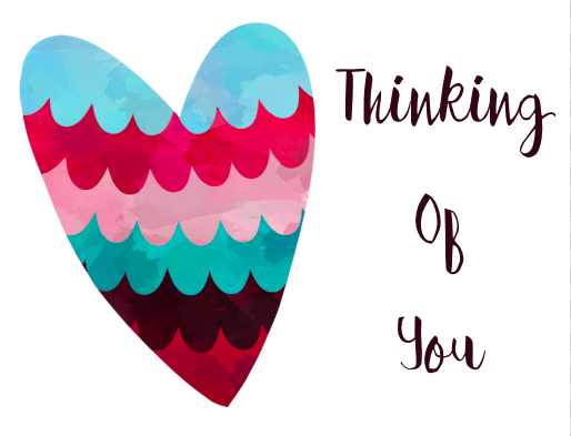 Free Printable Thinking of You Card - Heart