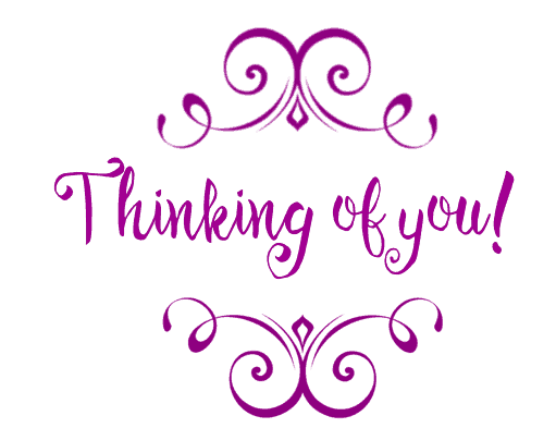 Free Printable THinking of You Card - Purple