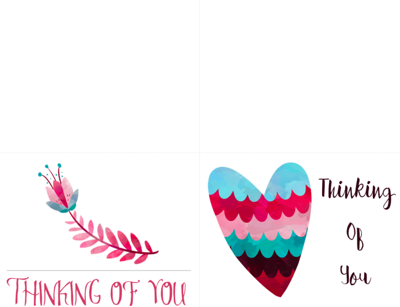 picture about Printable Thinking of You Cards called Totally free Printable Wanting to know of Yourself Playing cards Cultured Palate