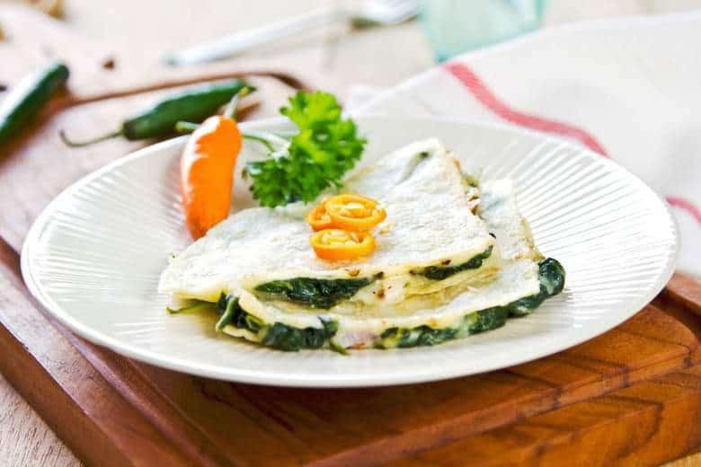 Easy Spinach Quesadillas