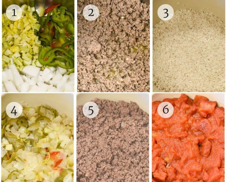Step by step photo tutorial for Beef and Rice Casserole