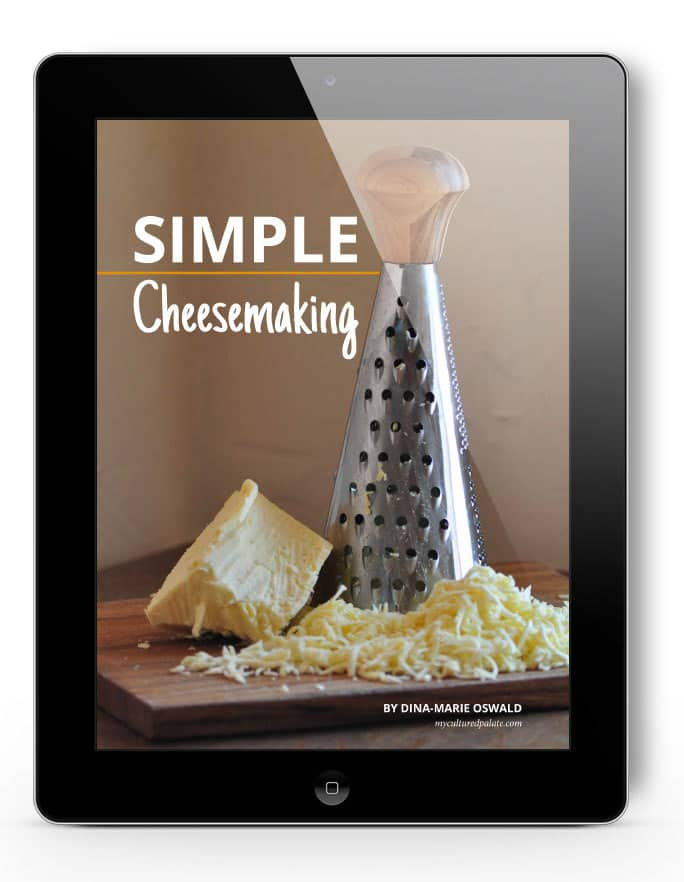 Simple Cheesemaking eBook by Dina-Marie Oswald, myculturedpalate.com