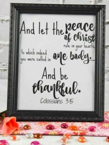 Printable Wall Art - Colossians 3:15