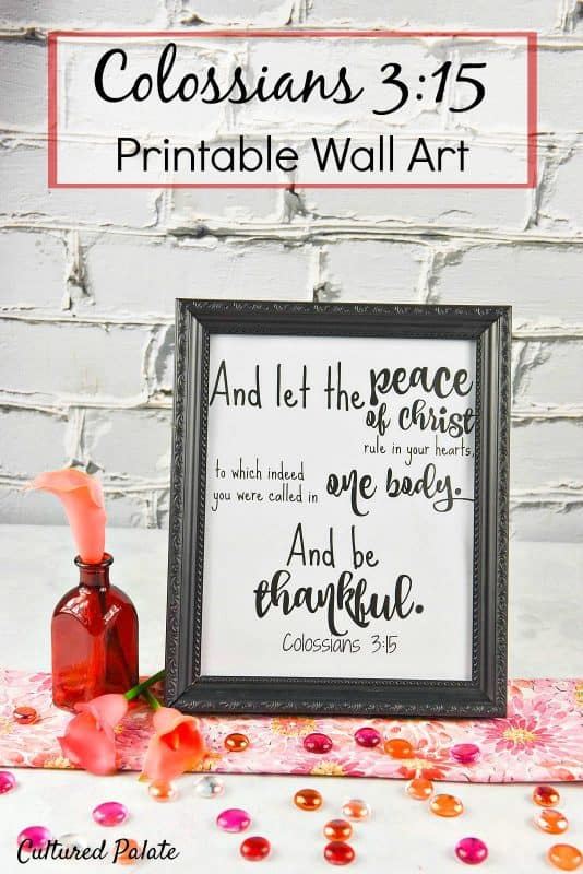 Printable Wall Art - Colossians 3:15