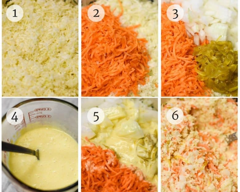 Creamy Coleslaw - Easy Coleslaw Recipe shown step by step
