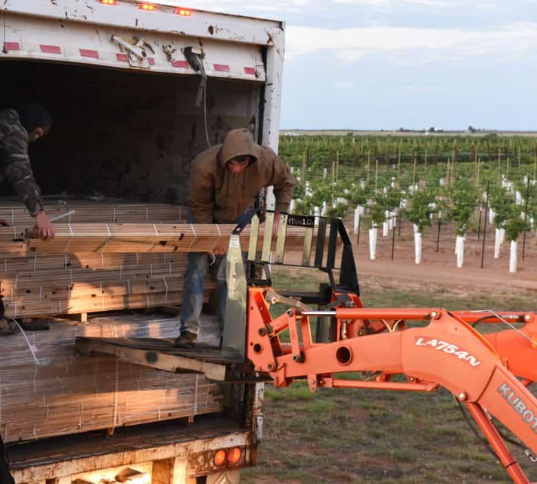 oak flooring delivered and unloaded