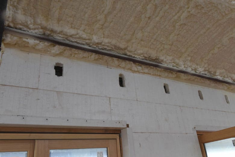 ICF cutouts for exposed beams