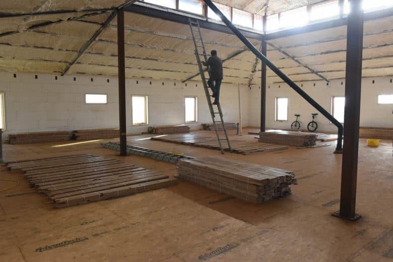 oak flooring delivered and spread