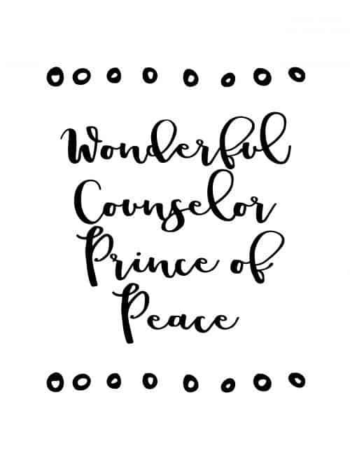 wonderful counselor prince of peace free printable christmas wall art