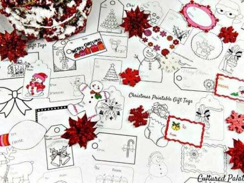 Free Christmas Gift Tags to Color