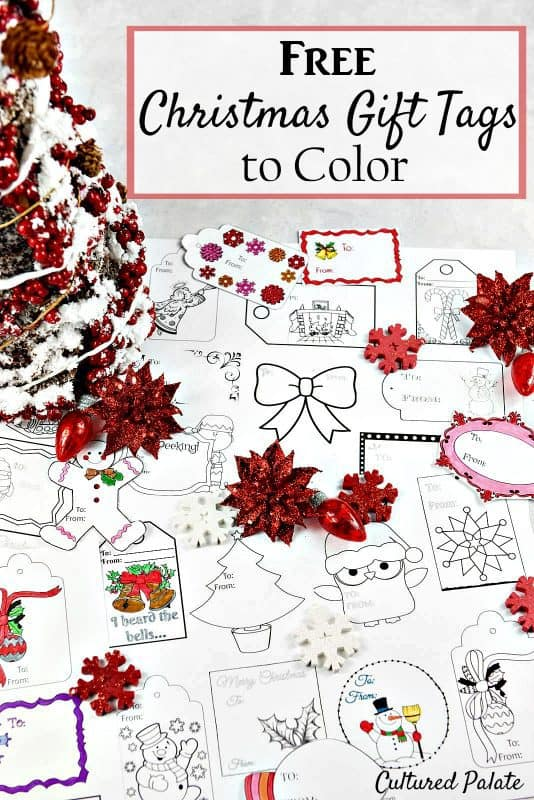 free christmas coloring gift tags