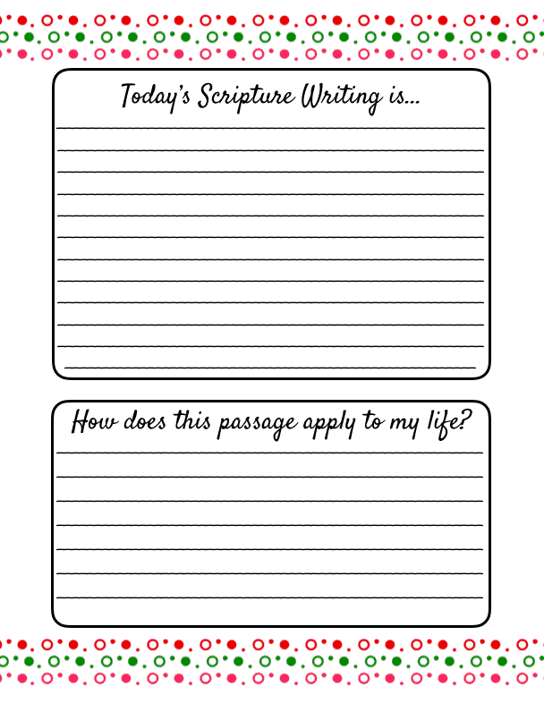 scripture writing bible verse printable and study questions