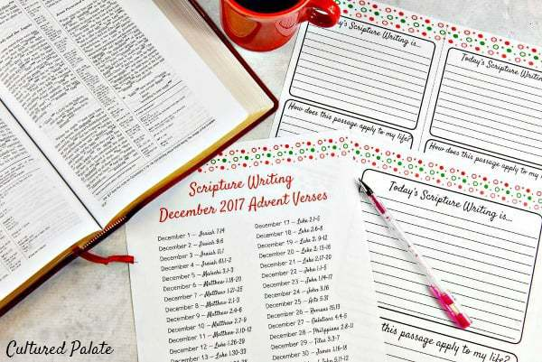 Scripture Writing Advent Verses