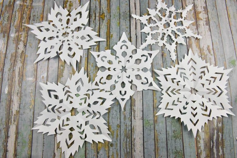 How to Make a Snowflake - snowflake collage