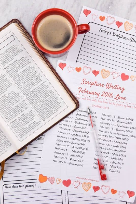 Write the Word - Scripture Writing for February