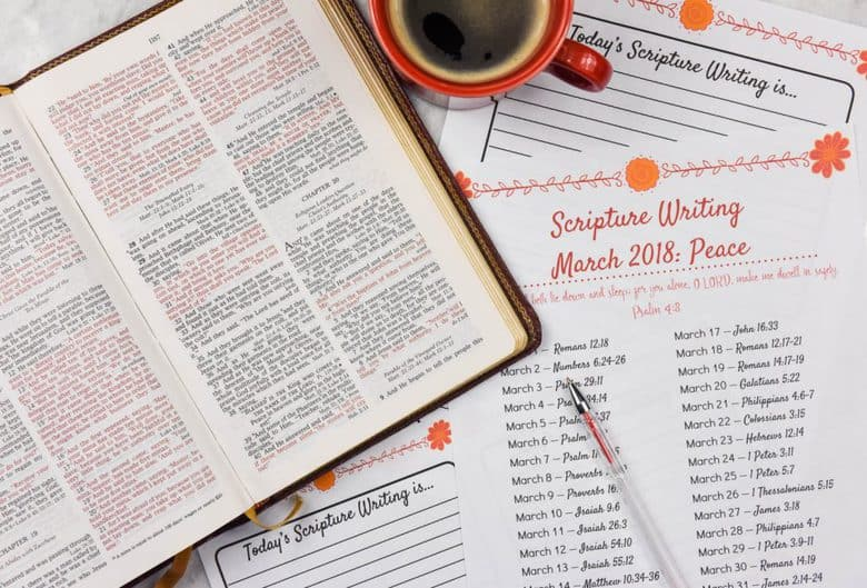 Scripture Writing for March: Peace