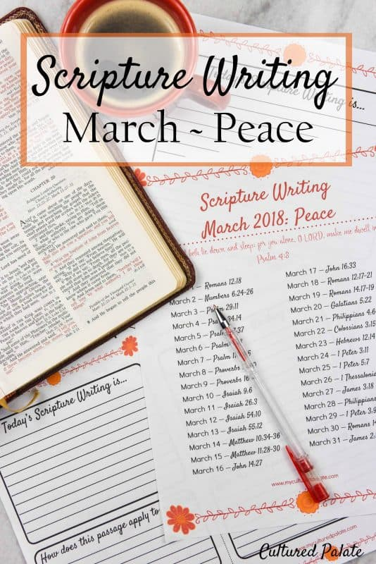 Scripture Writing March - Peace