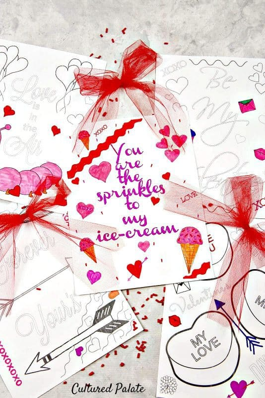 Valentines Activities - Coloring Sheets