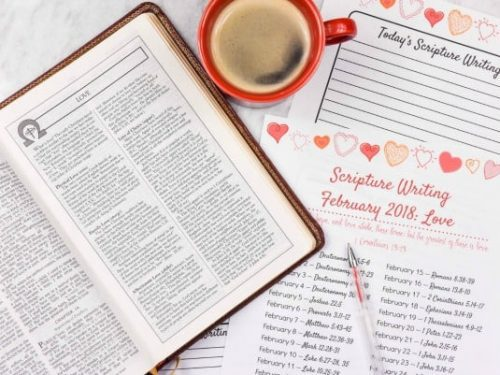 Write the Word – Scripture Writing for February
