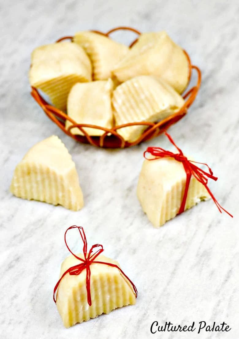 Homemade Soap shown in basket and with ribbon