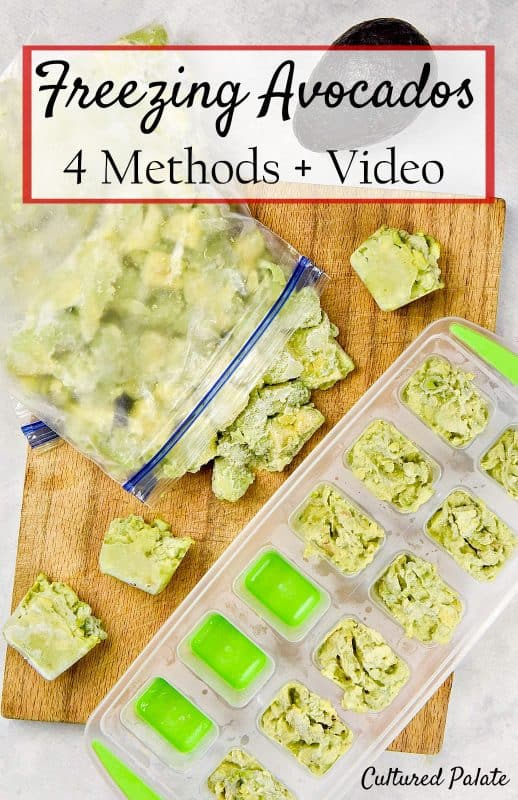 Freezing Avocados - mashed and cubed